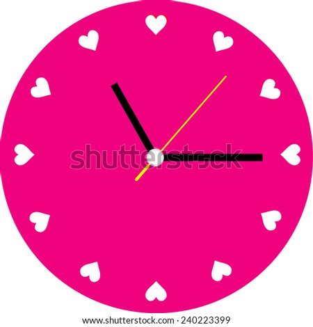 Creative clock heart design. - stock vector