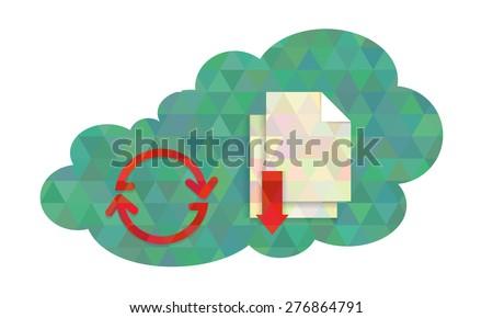 Creative cloud computing concept illustration. Vector illustration. - stock vector