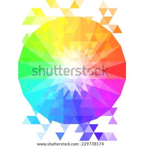 Creative Color Wheel Vector Illustration