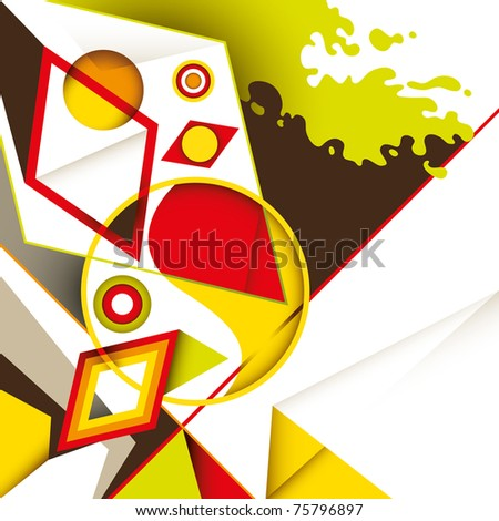 Creative colorful artwork with abstraction. Vector illustration. - stock vector