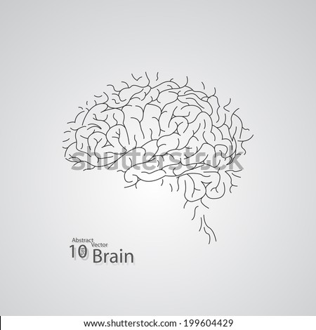 Creative concept of the human brain,  vector elegant illustration - stock vector