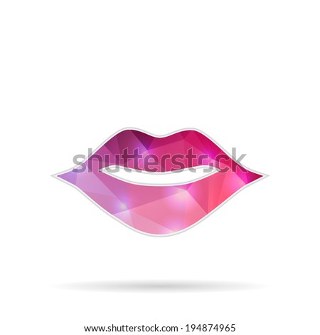 Creative concept vector icon of mouth for Web and Mobile Applications isolated on background. Vector illustration creative template design, Business software and social media. - stock vector
