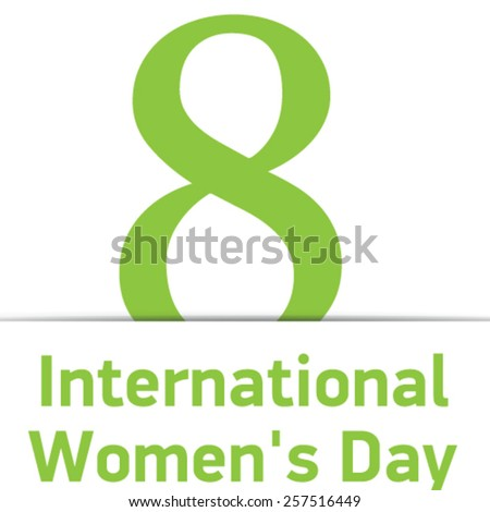 Creative design element for women's day - stock vector