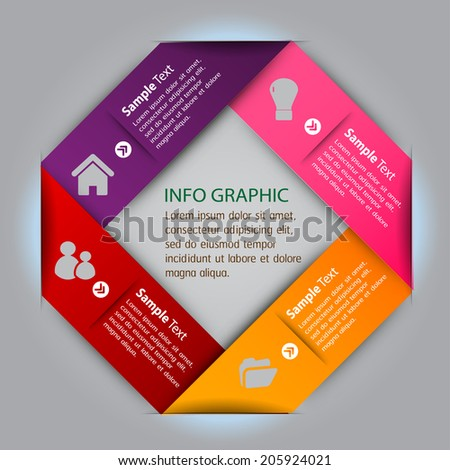 creative design modern label template for website and graphic, icon, text box,  - stock vector