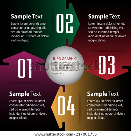 creative design modern template for website and graphic, text box for website graphic internet and technology. - stock vector