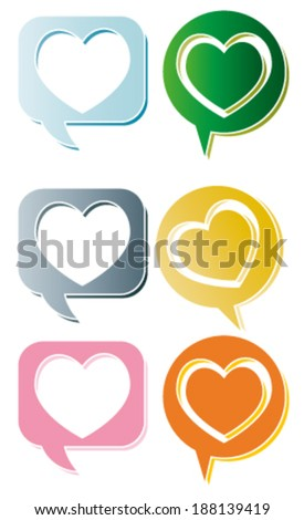 Creative design of heart. Fully editable vector.