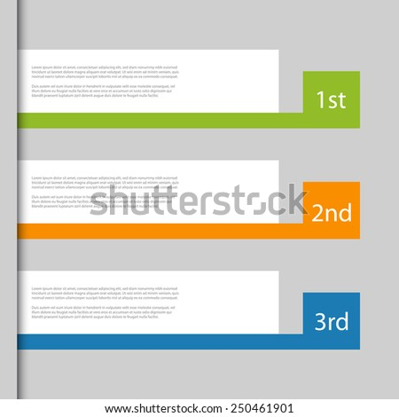 Creative Design template / number banners. - stock vector