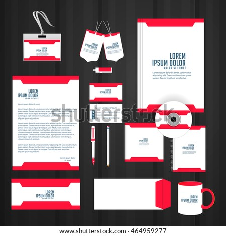 Creative Design Templates Office Stationery Stock Vector 464959277