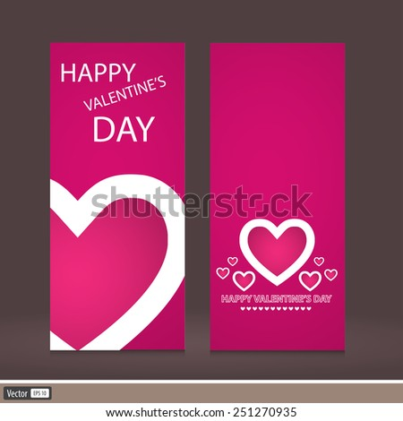 Creative design Valentine's Day. Vector invitation to a holiday. The modern idea of the flyer. - stock vector