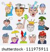 Creative design vector illustration. People characters concepts icons - stock photo