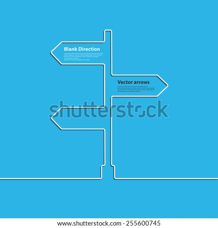 Creative direction arrow sign. The concept of choosing the direction of the road junction. Vector - stock vector