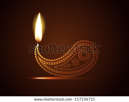 creative diwali diya vector design - stock vector