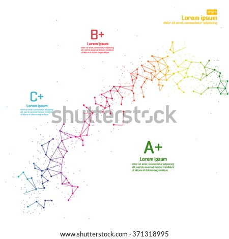 Creative Dots and lines connected together - stock vector