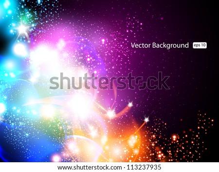 Creative dynamic light background, eps10 - stock vector