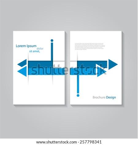 Creative flat brochure / flyer / banner design, eps10 Vector - stock vector