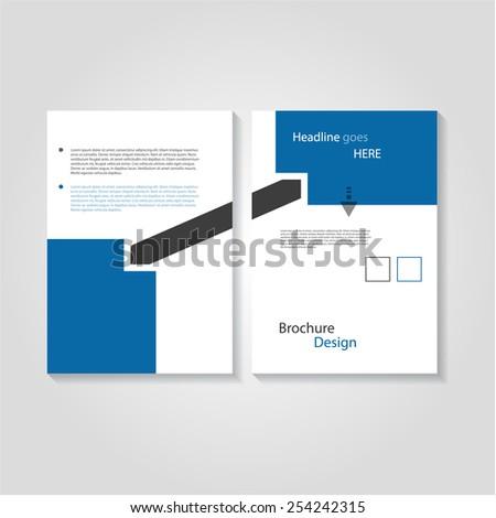 Creative flyer / brochure design template, eps10 Vector. - stock vector