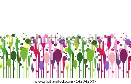 Creative food vector illustration - stock vector