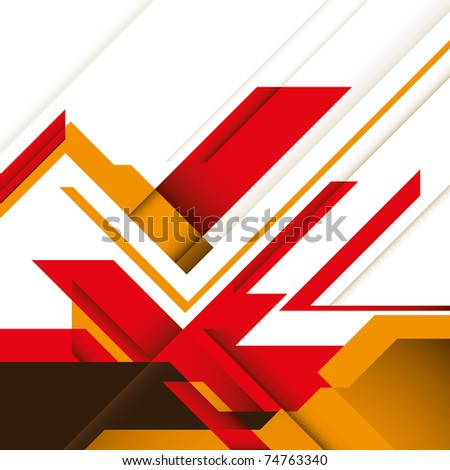 Creative futuristic graphic with designed abstraction. Vector illustration. - stock vector