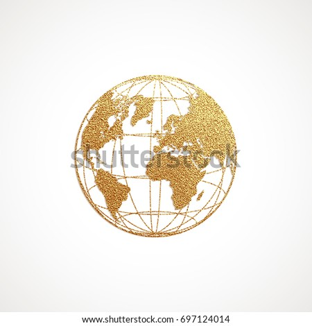 Creative gold map world vector illustration stock vector 697124014 creative gold map of the world vector illustration golden template design for media design gumiabroncs Gallery