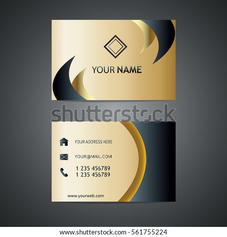 Creative golden business card vector design stock vector royalty creative golden business card vector design template vector illustration premium design gold and reheart Choice Image