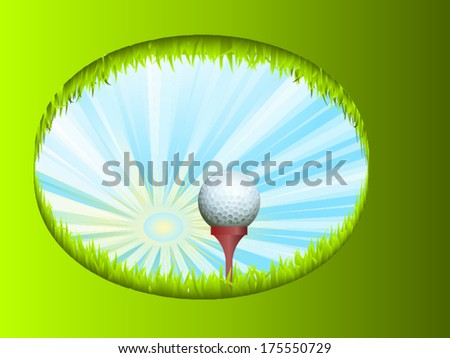 Creative golf background/Golf background/vector design