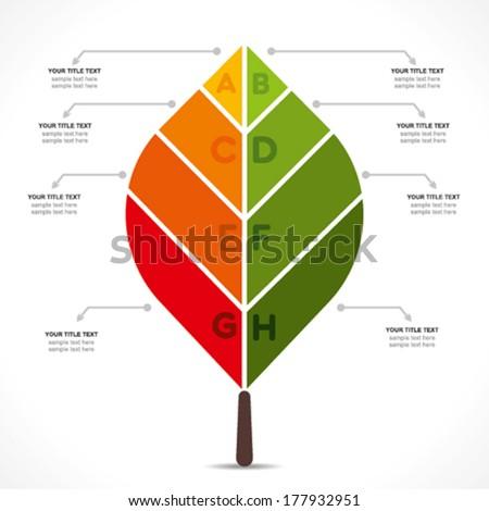 creative green eco-friendly nature info-graphics design background vector - stock vector