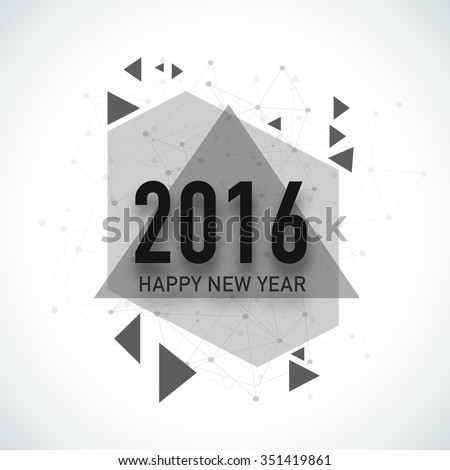 Creative greeting card with stylish text 2016 and abstract design for Happy New Year celebration. - stock vector