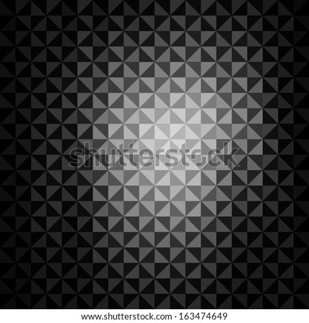 creative grey black triangle pattern background vector