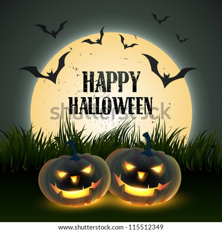 creative halloween vector design with space for your text - stock vector