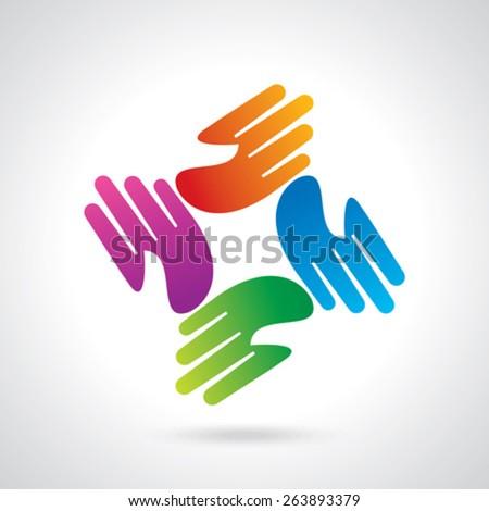 creative hand icon  - stock vector