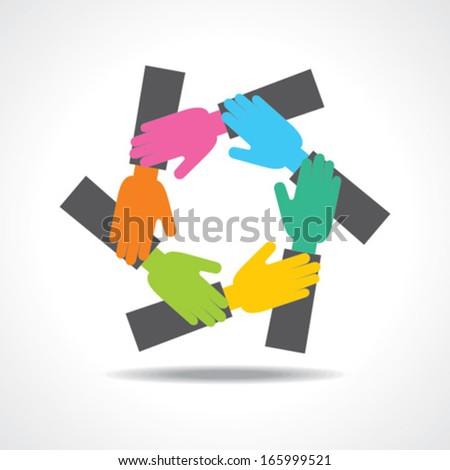 creative hand icon - vector illustration - stock vector