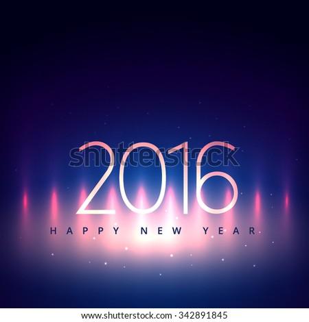 creative happy new year card - stock vector