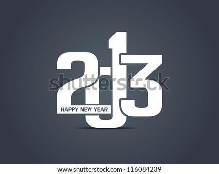 creative happy new year 2013 design. - stock vector