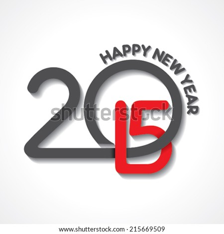 creative happy new year 2015 design stock vector - stock vector