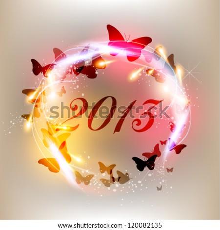 creative 2013 happy new year graphic design - stock vector