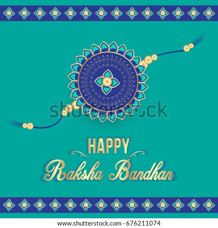 Creative happy raksha bandhan greeting card stock vector royalty creative happy raksha bandhan greeting card for indian festival celebrations for brothers and sisters m4hsunfo