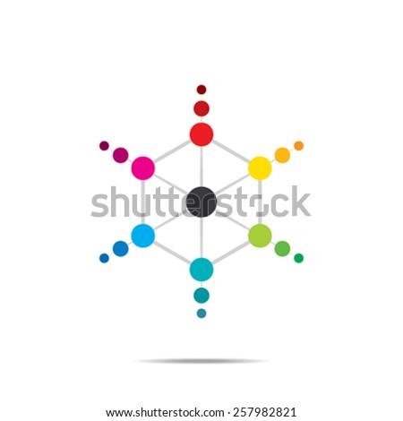 creative hexagonal or isometric icon design concept vector - stock vector