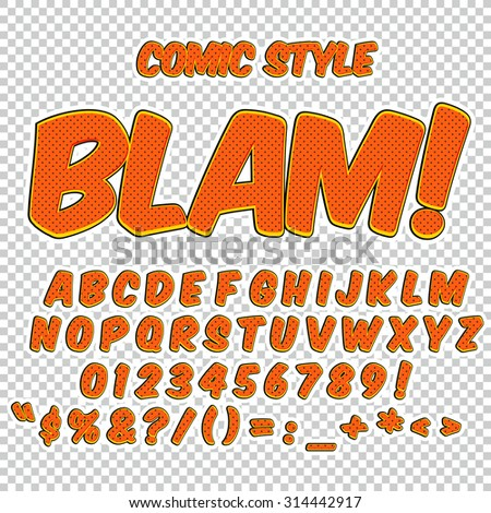 Preferenza Creative High Detail Comic Font Alphabet Stock Vector 314442917  FN92