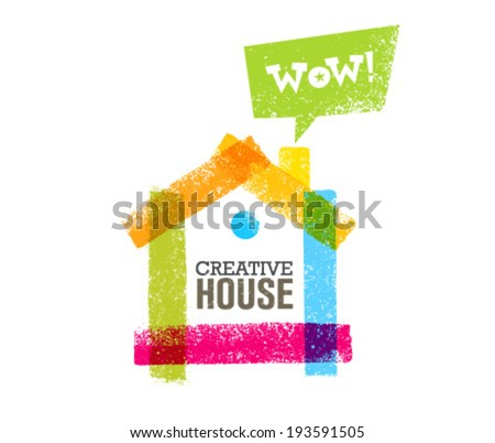 Creative House Outstanding Bright Vector Design Element - stock vector