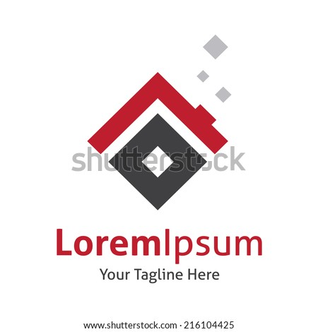 Creative house solutions for luxury comfort vector logo icon - stock vector