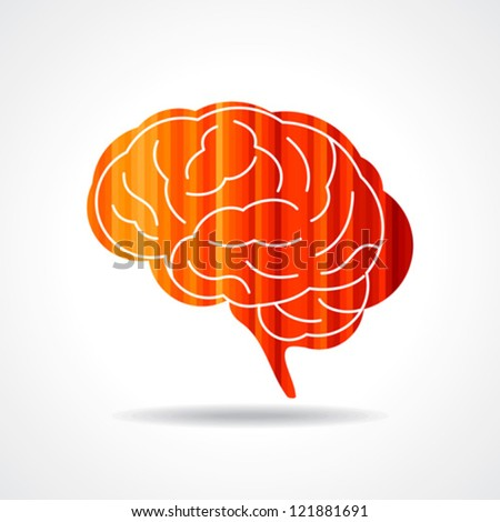 Creative Human brain vector - stock vector