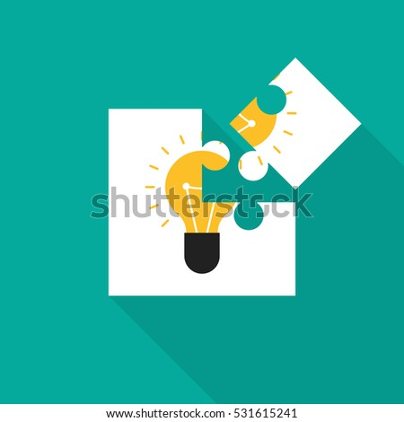 Creative Idea Concept Inspiration Process Jigsaw Stock Vector