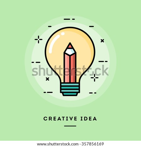 Creative idea, flat design thin line banner, usage for e-mail newsletters, web banners, headers, blog posts, print and more - stock vector
