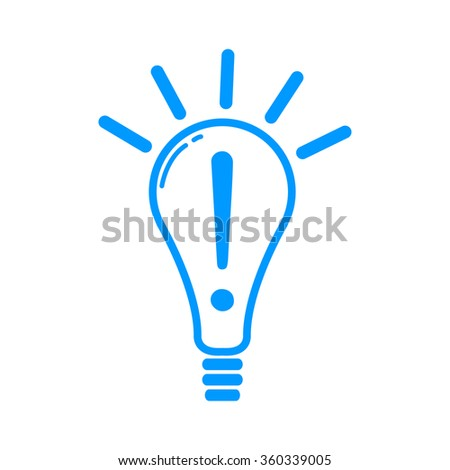 Creative Idea in Bulb Shape as Inspiration Concept Icon - stock vector