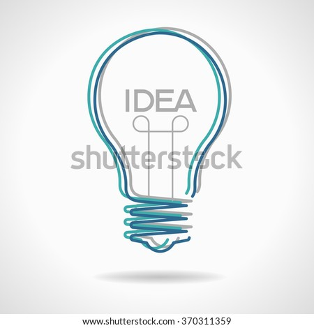 Creative idea in bulb shape. Inspiration concept. File is EPS version. This illustration contains a transparency  - stock vector