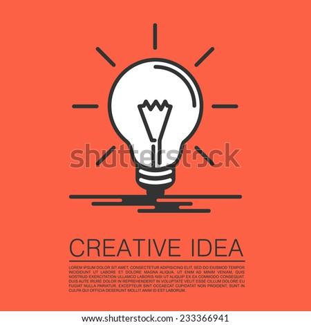Creative idea of flat style. Vector illustration - stock vector