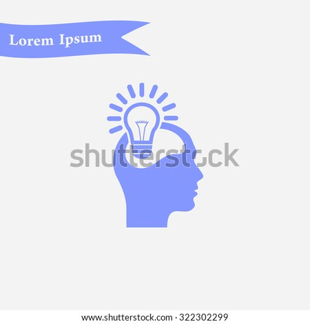 Creative ideas light bulb concept. Ideas icon.
