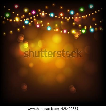 Creative illuminated hanging Arabic lanterns .Elegant greeting or invitation card for Islamic holy month, Ramadan Kareem celebration. - stock vector