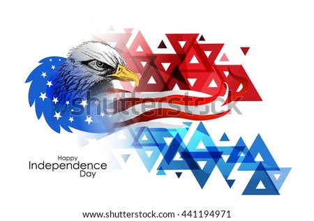 Creative illustration American Flag colors, Design Vector Illustration greeting card for 4 of July, Independence Day celebration. - stock vector
