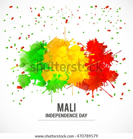 Creative illustration for independence day of mali.